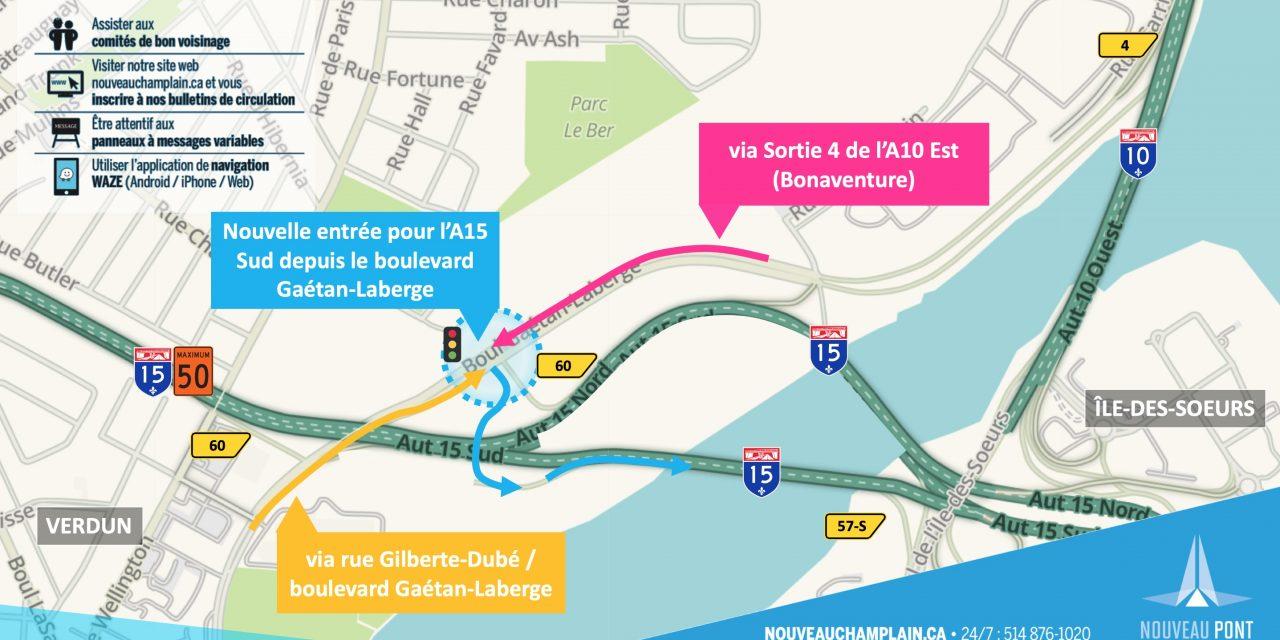 Fermeture complète de l'A10 Est après la sortie 4, de la sortie 57-N de l'A15 Sud et du boulevard de L'Île-des-Soeurs dans la fin de semaine du 8 février 2019