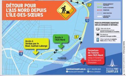 D'ici l'ouverture du nouveau pont Champlain