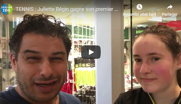 Juliette Bégin gagne son premier match