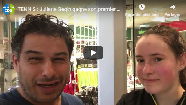 Juliette Bégin gagne son premier match