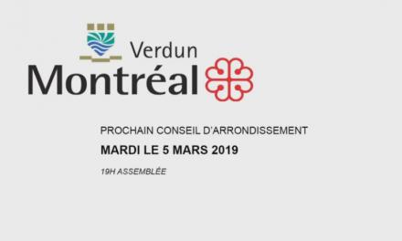 Conseil d'arrondissement du 5mars