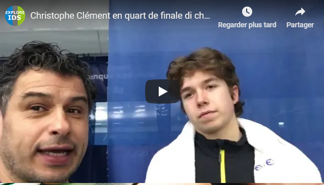 Christophe Clément en quart de final