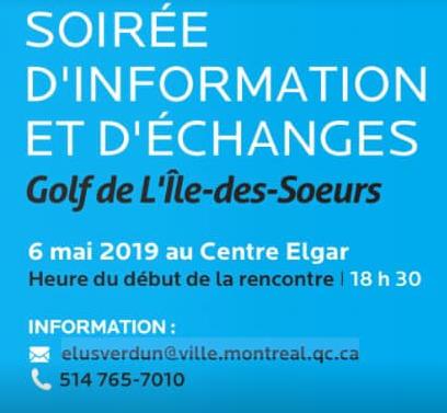 Soirée d'information au sujet du Golf de L'Île-des-Soeurs
