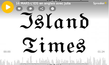 16 MARS-L'IDS en anglais avec Julia