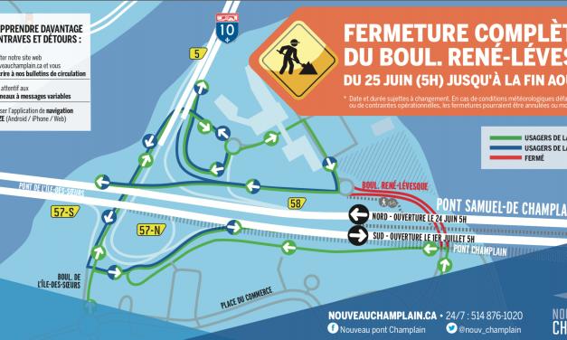 Fermeture complète du boulevard René-Lévesque