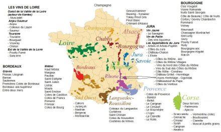 La France par ses vins et les vignobles bordelais