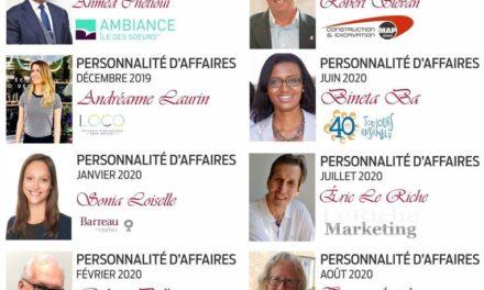 Réseau Affaires Verdun : les personnalités d'affaires 2019-2020