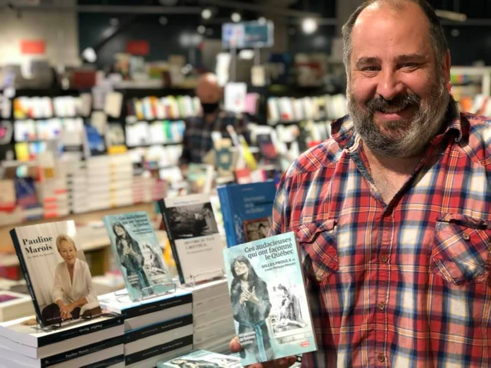 Le libraire Philippe Sarrasin