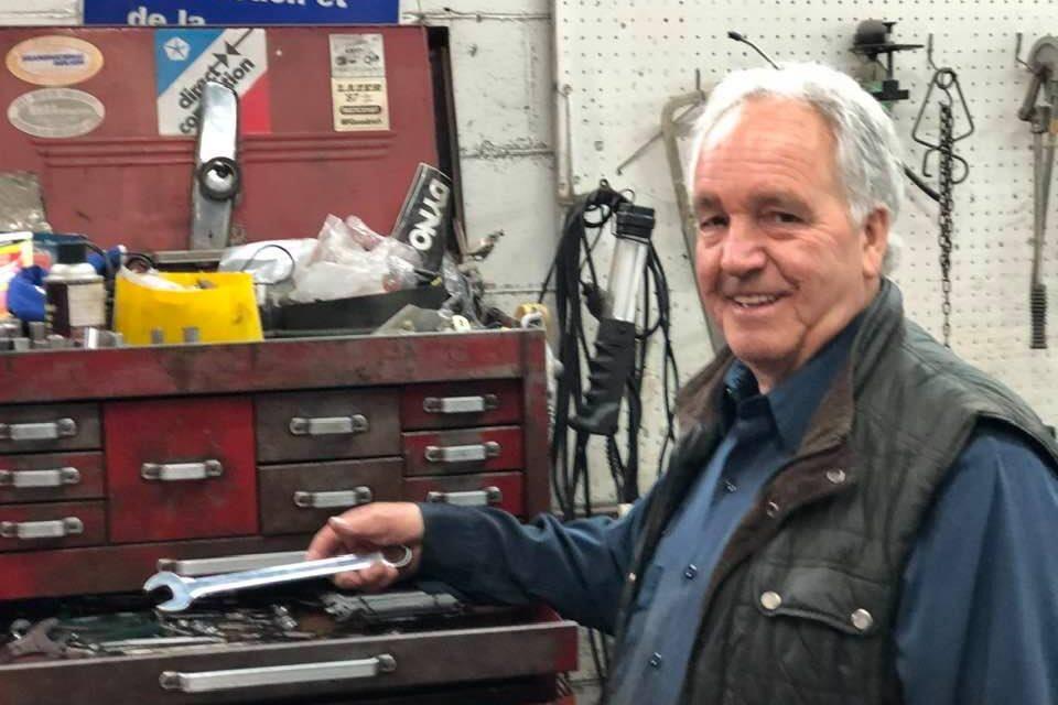 Le garagiste Jacques Thibault à la retraite