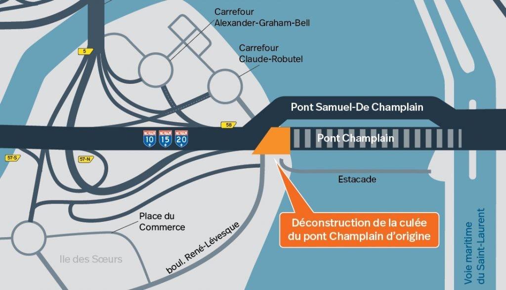 Déconstruction du pont Champlain