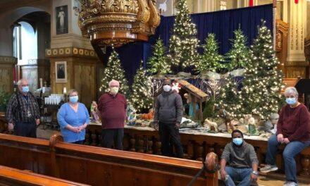 La crèche de Noël est en place