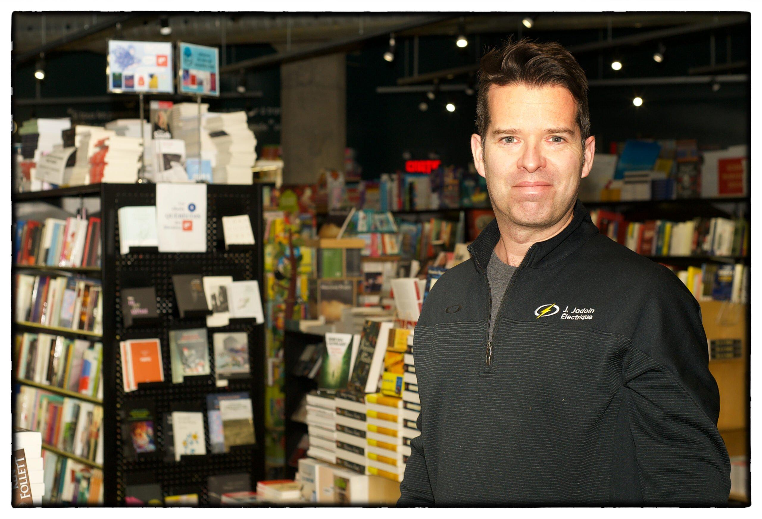 Jodoin-Personnalité d'affaires-Novembre, à la Librairie de Verdun. Photo Jack Mainville.