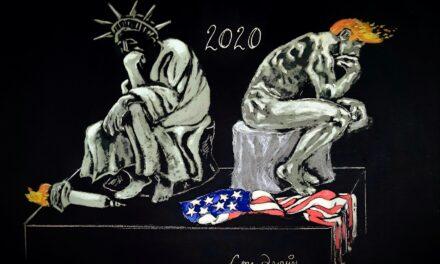Notre première caricature, signée Lou Drouin