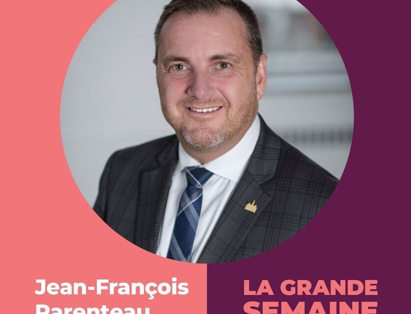 Jean-François Parenteau, «la grande semaine des tout-petits»