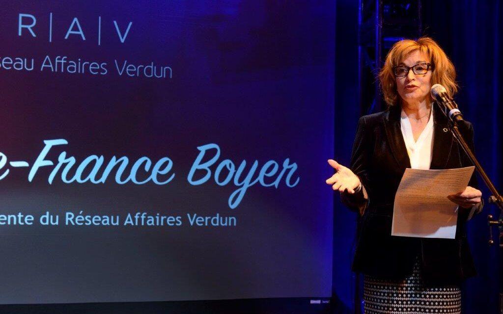 PLACE À MARIE-FRANCE BOYER, PRÉSIDENTE DU R.A.V.