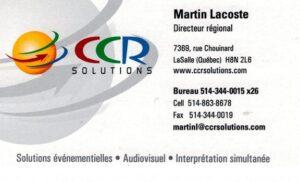 Gala-Carte de CCR Solutions