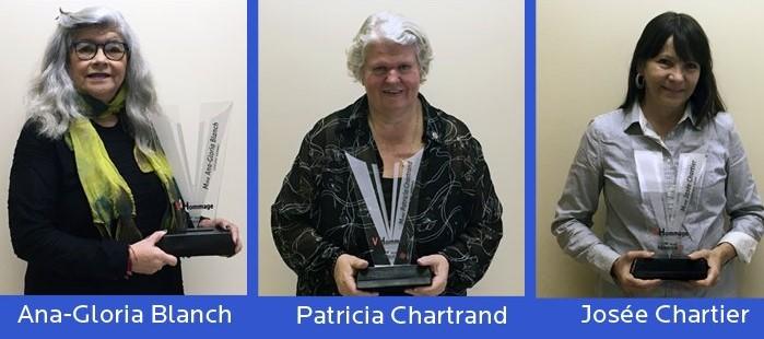 Prix V-Hommage pour trois bénévoles de l'année