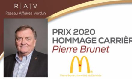 Pierre Brunet, récipiendaire du prix Hommage Carrière 2020