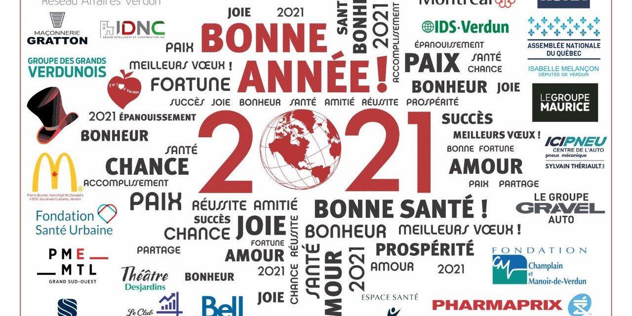 Bonne et heureuse année 2021 du Réseau Affaires Verdun