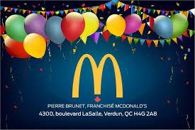 Pierre Brunet du restaurant McDonal's