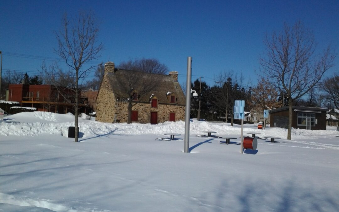 Cross-country ski along the St. Lawrence