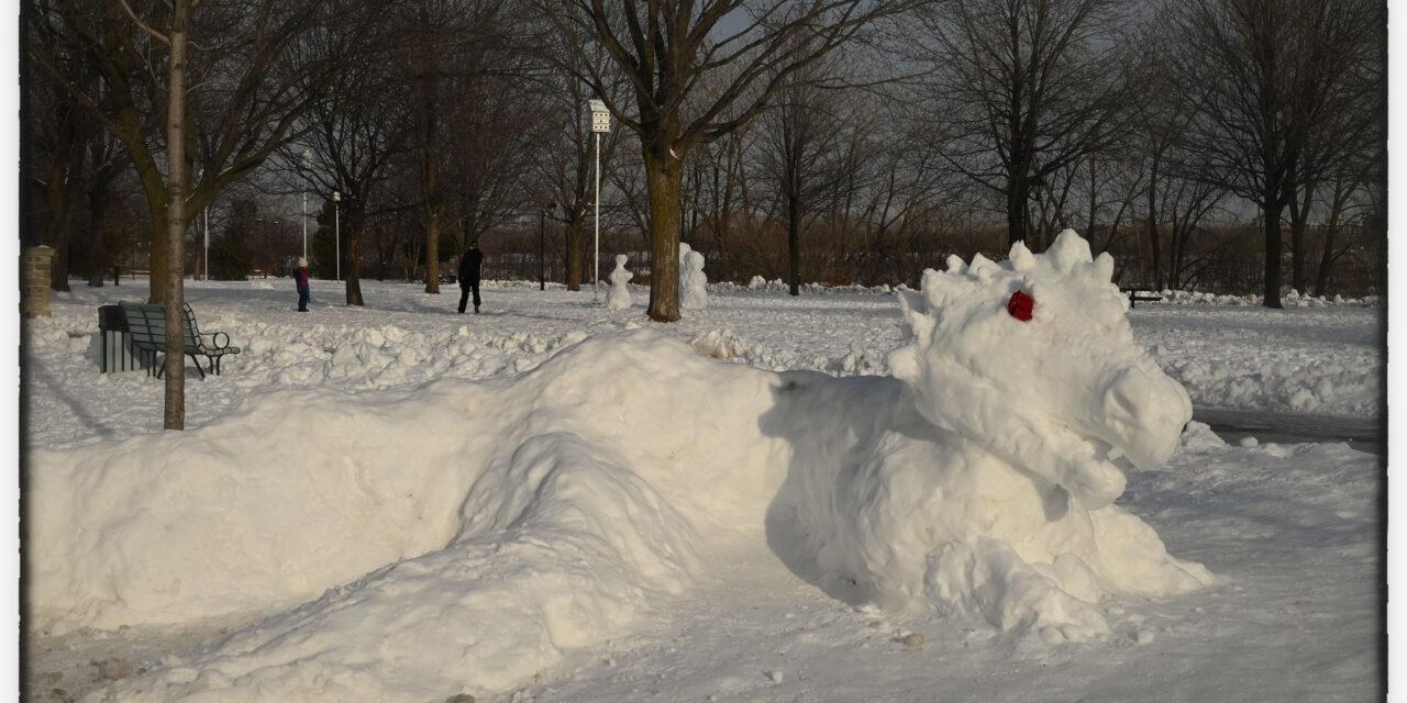 Les Verdunois sculptent sur neige!