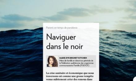 """Témoignage: """"Naviguer dans le noir"""""""