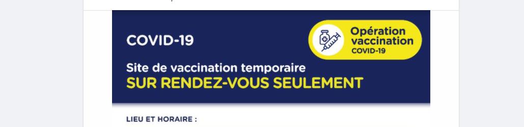 COVID19: vaccination à Marcel-Giroux
