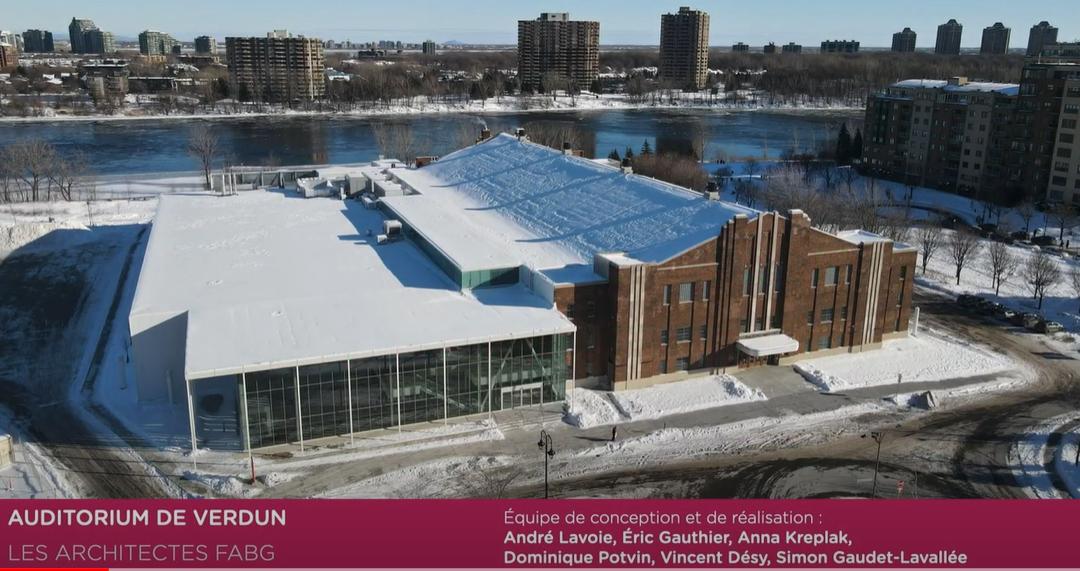L'Auditorium de Verdun reçoit un Prix d'excellence