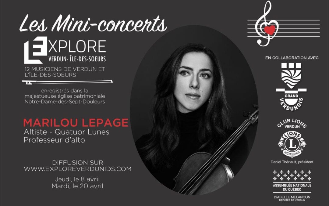 Mini-concerts Explore Verdun IDS – Marilou Lepage – Altiste