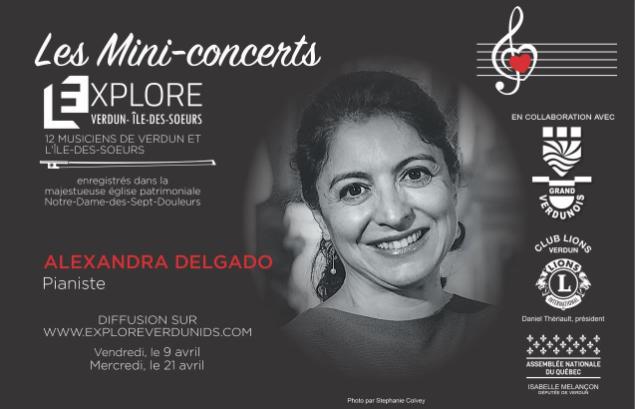 Mini-concerts Explore Verdun IDS – Alexandra Delgado  – Pianiste