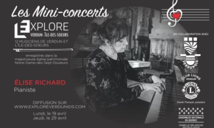 Mini-concerts Explore Verdun IDS – Élise Richard, Pianiste