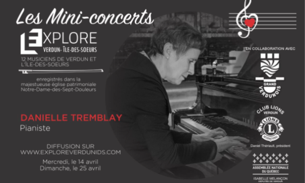 Mini-concerts Explore Verdun IDS – Danielle Tremblay Pianiste