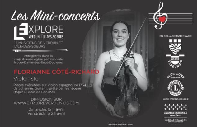 Mini-concerts Explore Verdun IDS – Florianne Côté-Richard Violoniste