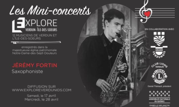 Mini-concerts Explore Verdun IDS – Jérémy Fortin, Saxophoniste