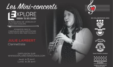 Mini-concerts Explore Verdun IDS – Julie Lambert Clarinettiste