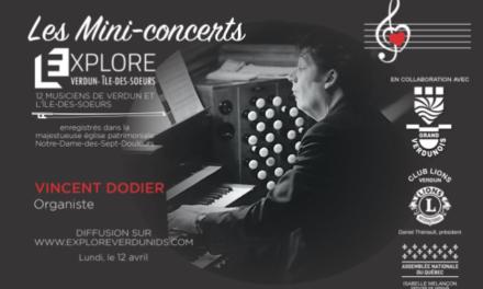 Mini-concerts Explore Verdun IDS – Vincent Dodier – Organiste