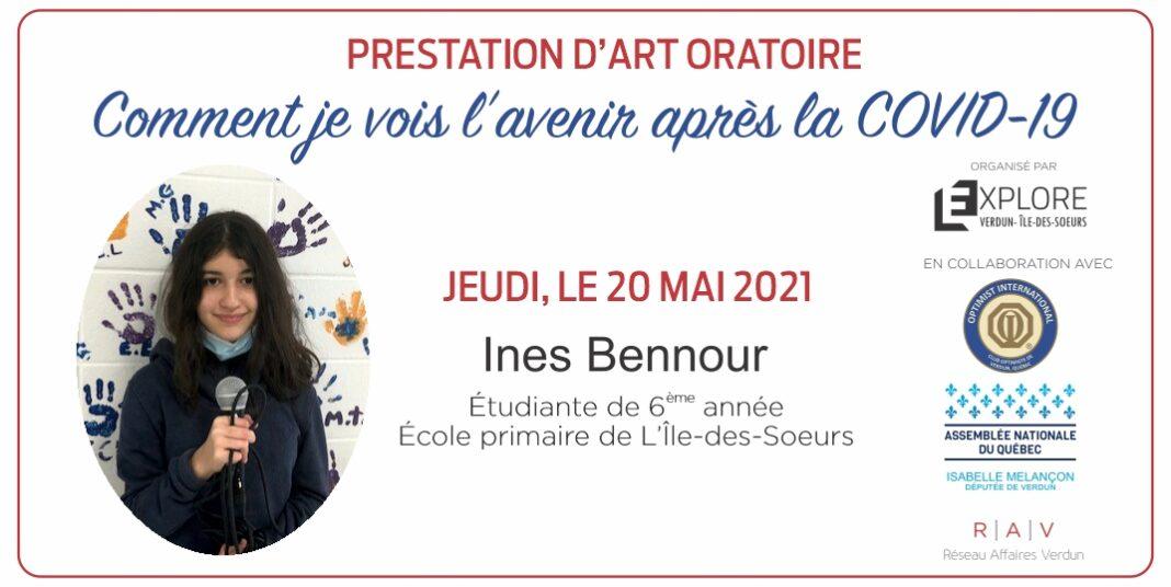 Ines Bennour - Prestation d'art oratoire
