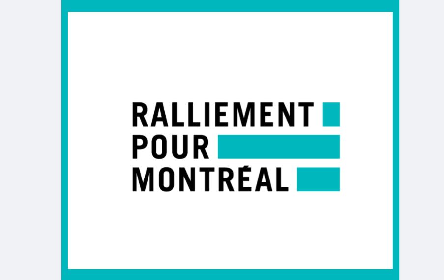 Ralliement pour Montréal.